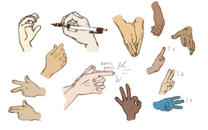 hand reference 2 by Faezer