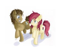 Doctor Whooves and Roseluck by BuzzingB