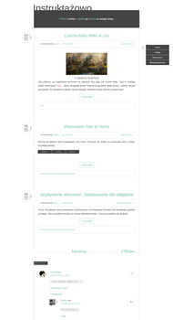 Blogspot template Instruktazowo by stupid-owl