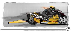 CAT Pro Stock Bike design by graphicwolf