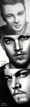 PROGRESS WITH STRONG SHADOWS - Leonardo DiCaprio by Doctor-Pencil