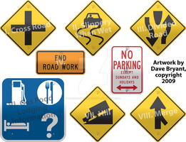 Chapter-title road signs I by Catspaw-DTP-Services