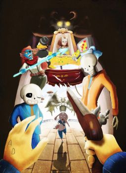 Undertale and Bioshock Infinite crossover by og1885