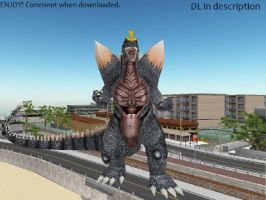 MMD Godzilla Newcomer - SpaceGodzilla UPDATED +DL+ by MMDCharizard