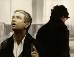 Sherlock and John Companion Piece (John) by thewordlesssignature