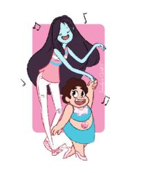 Marceline and Steven by Immature-Child02