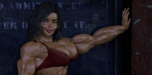 Girl bodybuilder 1 by TheRedCrown
