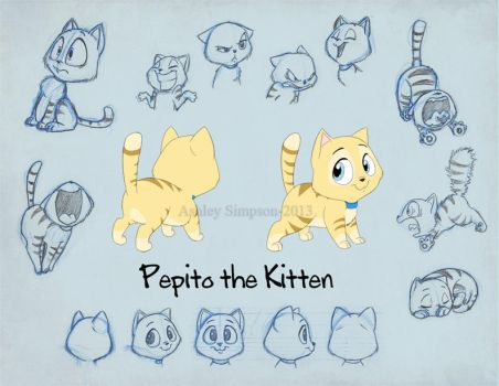 Routine - Pepito Model Sheet by KicsterAsh