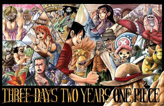 Three Days Two Years One Piece by e1n