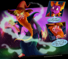 Spyro - ''Blowhard'' the Magic Manipulator by Turquoisephoenix