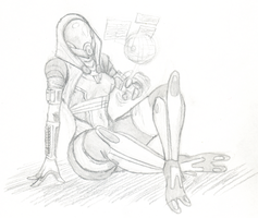 Tali is bored by Scuter