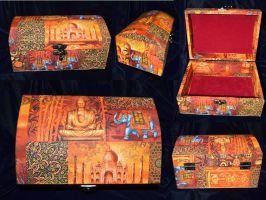 Hindu and Buddhist wood box by Soulren