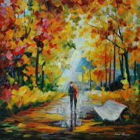 Fall's Charm by Leonid Afremov by Leonidafremov