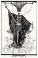 Queen of Swords Tarot Original by InaAuderieth