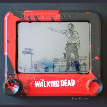 The Walking Dead Etch a Sketch by bryanetch