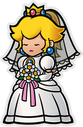 Wedding Peach (Modern)- Super Paper Mario by Fawfulthegreat64