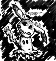 Inktober 2016 Day 09: Mimikkyu by Fragraham