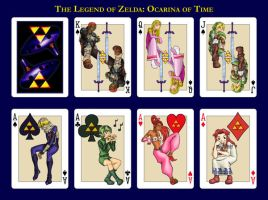 Ocarina of Time playing cards by JesseRaven