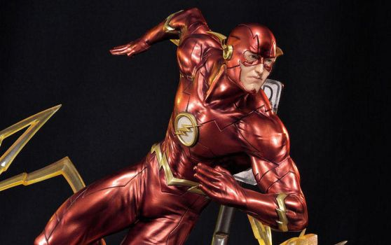 Justice League New 52 Statue The Flash by Sideshow by epicheroes