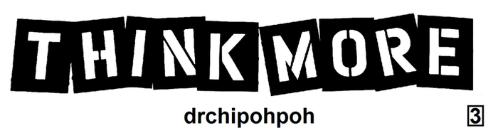 drchipohpoh Sticker Design [3] THINK MORE by drchipohpoh