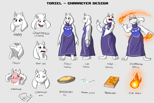 Toriel - Character Design by Thelightsmen