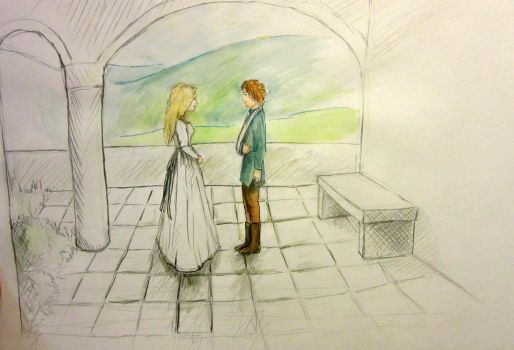 Eowyn and Faramir in the Houses of Healing by Raagane