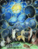 Dance of the Moon Rabbits by InKibus