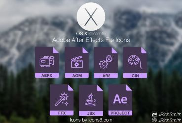 OS X Yosemite - After Effects Files Icons by JRichSmith