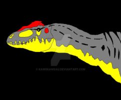 Allosaurus fragilis by Kawekaweau