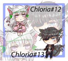 Chloria # 12 and 13 by aquacatz