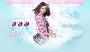 Selena Gomez Premade Header by cherryproductionsorg