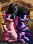 Pinkie Powns and Dr. Sparkle by DeathPwny