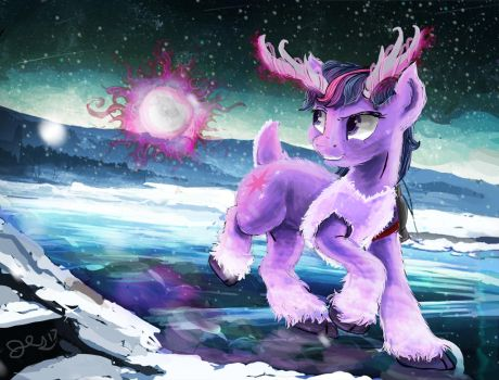 Viking Caribou  Twilight by OwlVortex