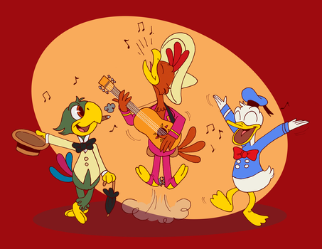 Three Caballeros for FlywheelAndFirefly by Toodles3702