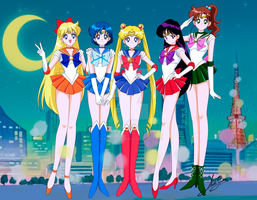 Sailor Moon S inner senshi by AlbertoSanCami