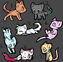 2 Point Kitty Adopts ~OPEN~ ONLY 1 LEFT #4!! by Geeks4Squeaks