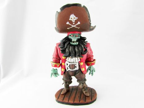 Le Chuck Monkey Island 2 Polymer Clay Sculpture by makemyclay