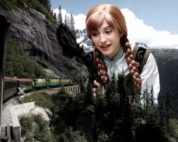 Mega Giantess Princess Anna's Miniature Railway by GiantessStudios101