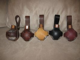 Leather Potion Bottles with Belt Attachment by SonsOfPlunderLeather