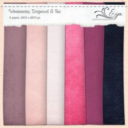 Wineberries, Dogwood and Tea paper pack by Eijaite