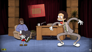 Cuphead vs Eric Andre by AndroJuniarto