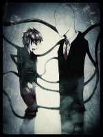 Slender man and the guy who took his pages 2 by Meka2201