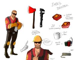 TF2- Forsaken : Engineer studies by camiluna27