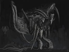 Tyranid (sketch) by Guidewom