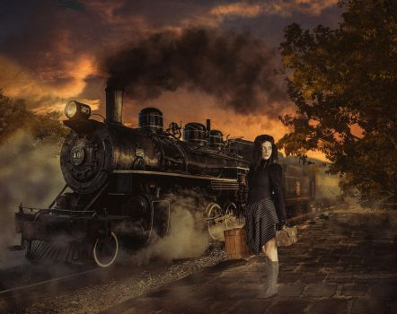 Steam Train by WesterArt