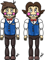 Five Nights at Eddy's: Paul and Patryk by Winter-Sunflower