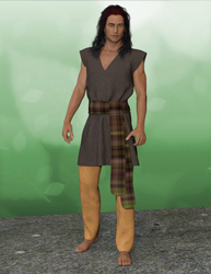 MD Outfit 1 standing model by DaWaterRat