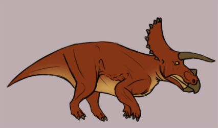 Galloping Triceratops FINISHED by Supaslim