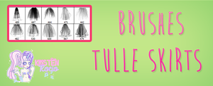 Brushes Tulle skirts by RoohEditions