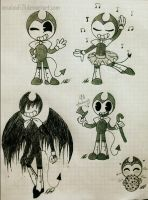 .New style in Bendy-Sketches #18. by vocaloid121